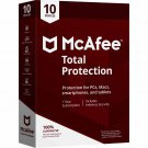 McAfee Total Protection 2018 - 10 PCs / Devices - 1 Year Full Version Product Key Download