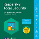 [Region Locked] Kaspersky Total Security 2018 3 PCs Devices 1 Year Product Key Download