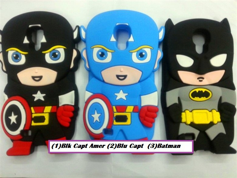 Captain America (Blk /Blu) Batman Galaxy S4 Cell Phone Cover- $2.50 Ship
