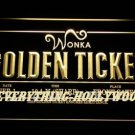 Willy Wonka Golden Ticket 3D LED Neon Sign NEON SIGN Movie Theme Gift