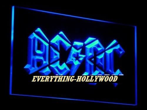 AC/DC 3D Music Band LED Neon Sign Light - FREE SHIPPING