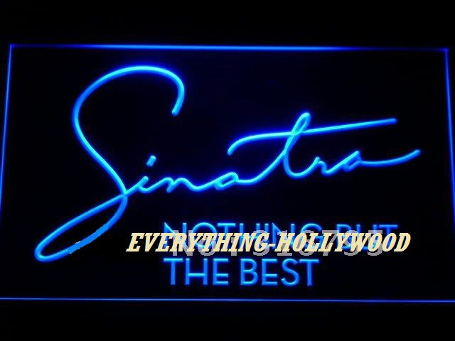 Sinatra Signature LED Neon Light Sign - Hollywood Music Theme Decor GREAT GIFT