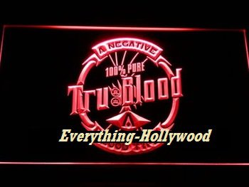 Tru Blood LED Neon Sign - Hollywood theme Gift FREE SHIPPING