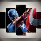 Captain America Superhero Marvel Comics Framed 5pc Oil Painting Wall Decor