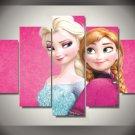 Anna and Elsa Disney Frozen Framed 5pc Oil Painting Wall Decor Cartoon