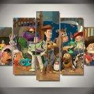Toy Story Framed 5pc Oil Painting Wall Decor Woody Buzz Lightyear Disney Cartoon