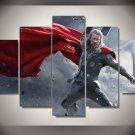 Thor Movie Chris Hemsworth Framed 5pc Oil Painting Wall Decor Superhero