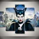 Maleficent Movie Cover Framed 5PC Oil Painting Wall Decor - $3 Shipping