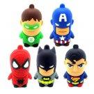 Super Hero Character USB Flash Drive 4GB Spiderman Superman Captain America Batman