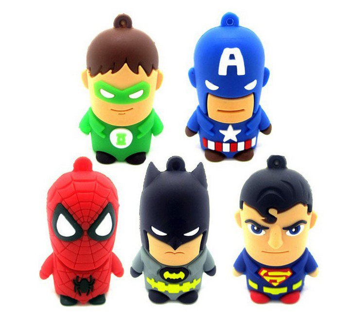 Super Hero Character USB Flash Drive 32GB Spiderman Superman Captain America Batman FREE SHIPPING