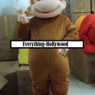 Curious George Monkey Mascot Character Adult Costume