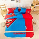 Superman Super Hero Design Bedding Cover Set - King Size