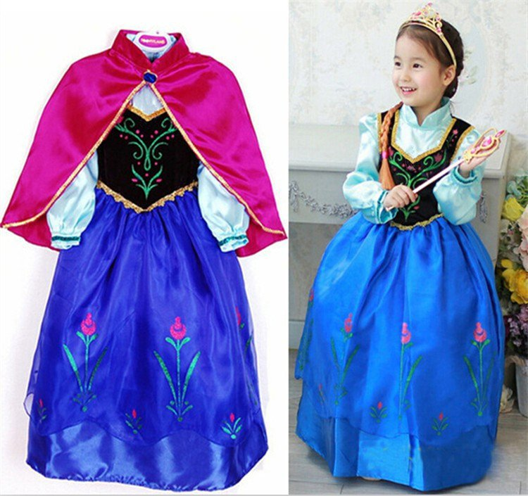 Anna Frozen Princess Character Costume Dress Kid / CHILD 3T, 4T, 6, 8,10, 11 - SALE LIMITED TIME