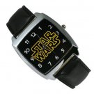 Star Wars logo Watch Black Leather Band ANY WATCH SALE $1 SHIP