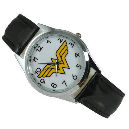 Wonder Woman Quartz Watch Black Leather Band $1 SHIP