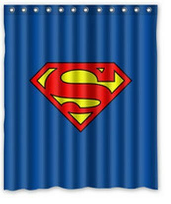 Superman Logo Superhero Design Shower Curtain 60x72