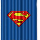 Superman Logo Superhero Design Shower Curtain-60x72-