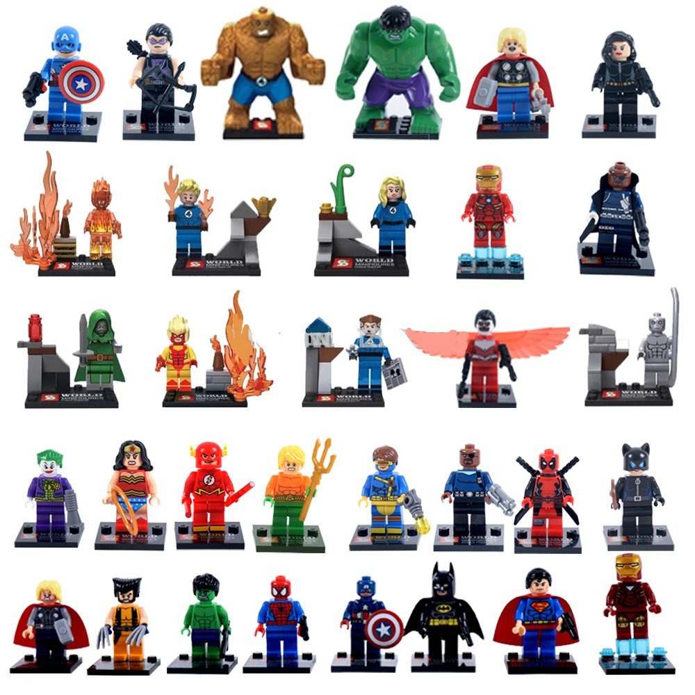 Lego Figures Toys : Marvel superhero character mini figures building blocks