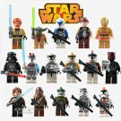 Star Wars 16pc Mini Figures Building Blocks Minifigures Block Build on SALE