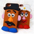 Potato Head Couple Silicon Iphone Case Cover for 5 5s -SALE PRICE FREE SHIPPING