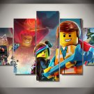 Lego Movie Framed 5pc Oil Painting Wall Decor- $5 Shipping Cartoon