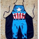 Captain America Character Body Print Apron
