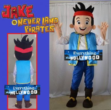 Jake and the Never Land Character Adult Mascot Costume