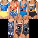 One Size One Piece Character Women Bathing suit Swimwear Batman, Wonderwoman, Superman, Star Wars