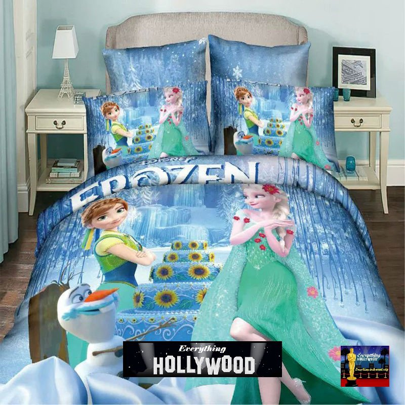 Frozen Elsa Anna Olaf Design Bedding Cover Set 2 - Queen Size