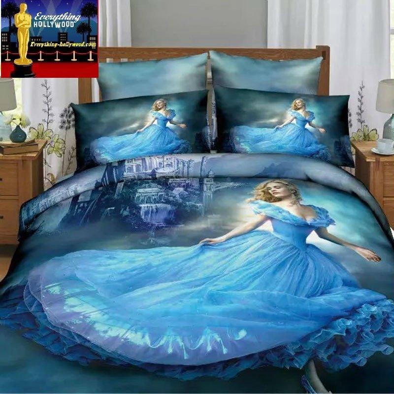 Cinderella 3D Design Bedding Cover Set NEW - Twin Size