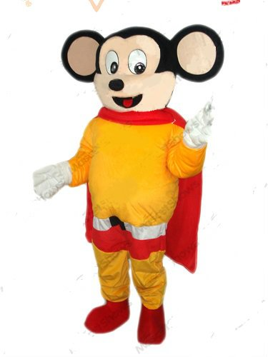 Mighty Mouse Mascot Costume Cartoon Character NEW ARRIVAL