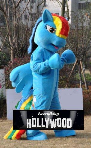 Rainbow Dash Mascot Costume My Little Pony Cartoon Character