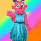 Little Plum Mascot Costume W/ Wings Sesame Street Character- SALE
