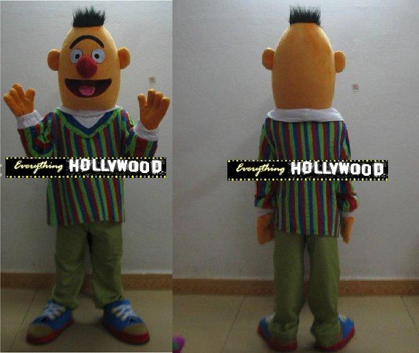 Bert Mascot Costume Cartoon Muppet Sesame Street Character -NEW ARRIVAL