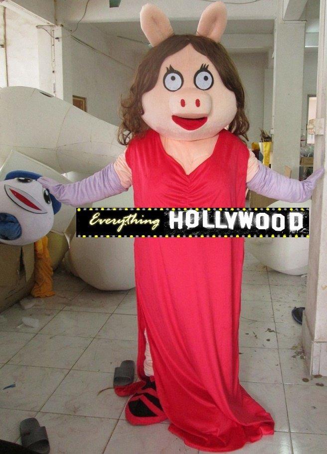 Miss Piggy Mascot Costume Muppets Character -New 2015