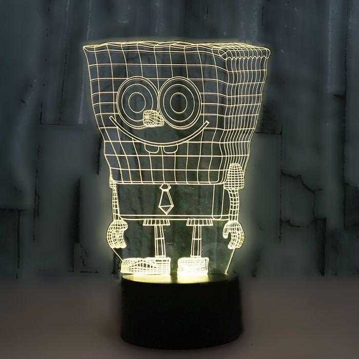 Spongebob 3D LED Light Lamp Tabletop Decor 7 Colors -NEW