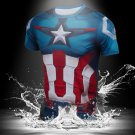 Captain America Marvel Tight Fit SuperHero Shirt New Design-SALE