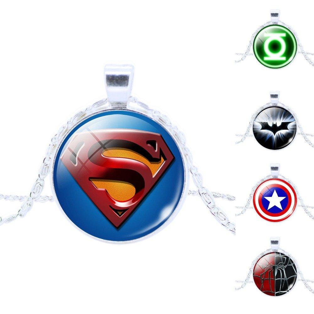 Marvel Superhero Pendant Chain Necklaces Superman Batman Captain America Spiderman $1 SHIP