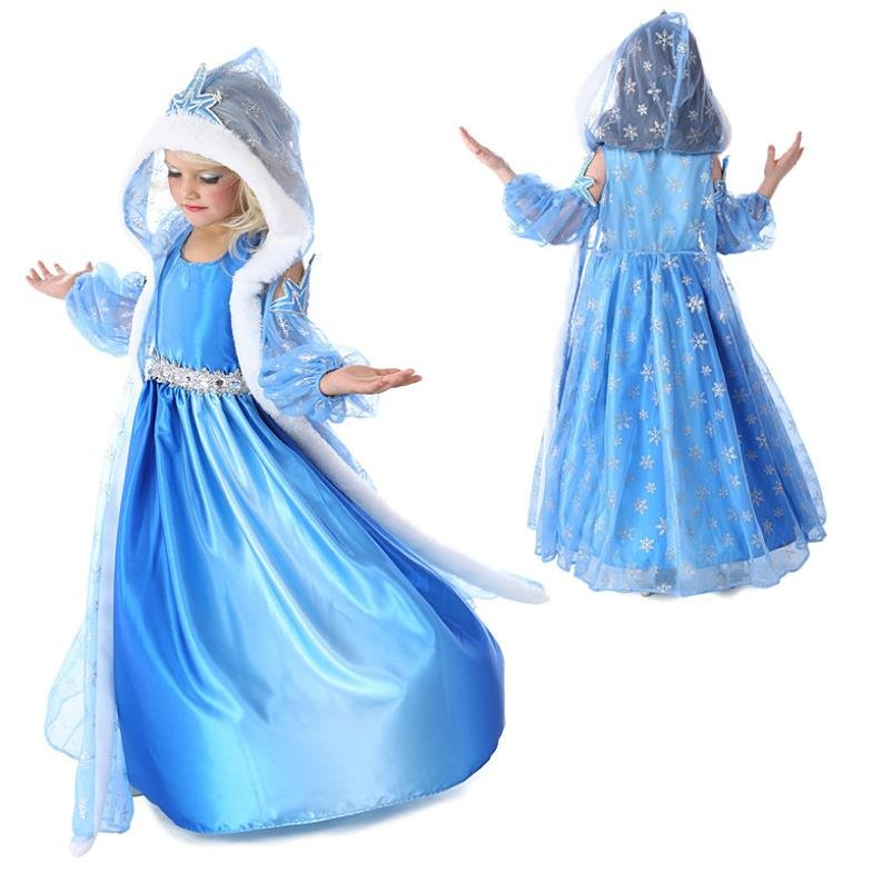 Cinderella Princess Character Dress Child 3t 4t 5 6 7: Elsa Anna Frozen Princess Character Dress Up Design 1