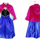 Anna Frozen Princess Character Costume Dress Kid / CHILD 3T, 4T, 5 , 7 , 9