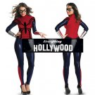 Marvel Comics Spiderman Adult Women Bodysuit Costume sexy black red Halloween