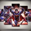 Superman Framed Oil Painting 5pc Wall Decor Superhero Art