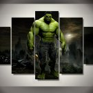 The Hulk Marvel 5pc Wall Decor Framed 2 Oil Painting Superhero Marvel DC