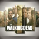The Walking Dead Cast 5pc Wall Decor Framed 2 Oil painting Horror TV