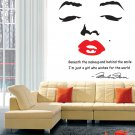 Marilyn Monroe Icon Face Wall Decal -$1 SHIPPING SALE PRICED