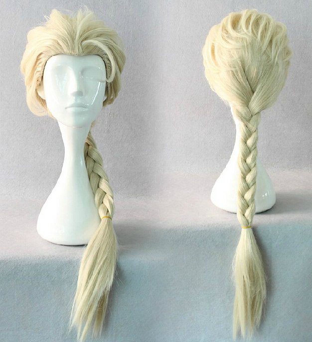 Elsa Frozen Character Wig Adult Size Costume Accessory
