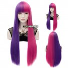 Nicki Minaj Purple Pink Wig Hollywood Costume Accessory Halloween Wig