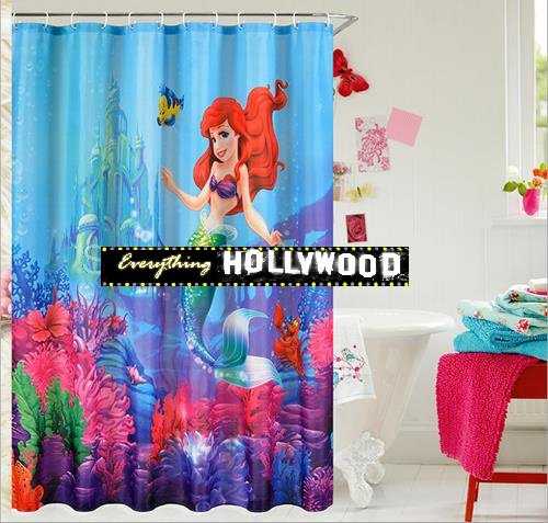 The Little Mermaid Ariel Design Shower Curtain  FREE SHIPPING