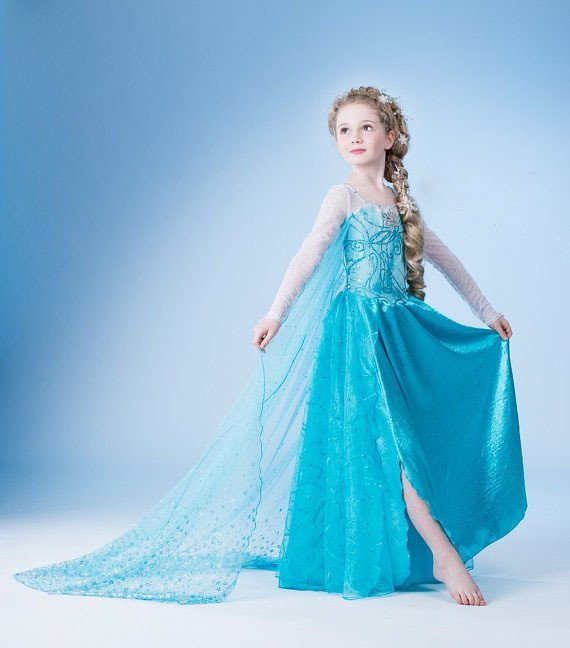 Elsa Frozen Princess Dress Costume CHILD 3T, 4T, 5, 6, 7, 8, 9,10, 11, 12 SALE LIMITED TIME