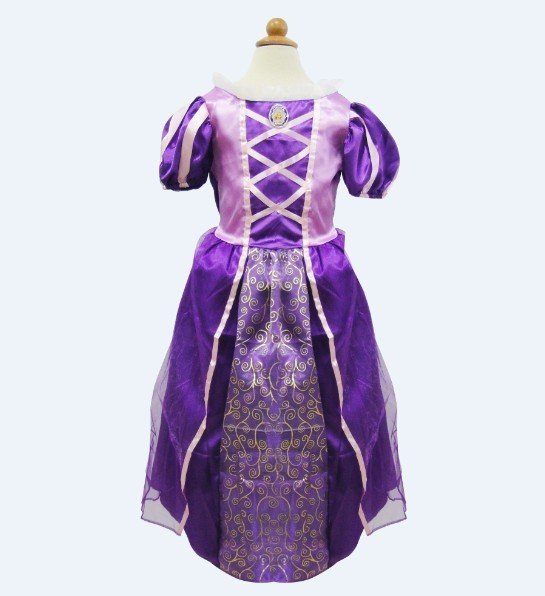 Cinderella Princess Character Dress Child 3t 4t 5 6 7: Rapunzel Princess Character Dress Costume CHILD 3T, 4T, 5
